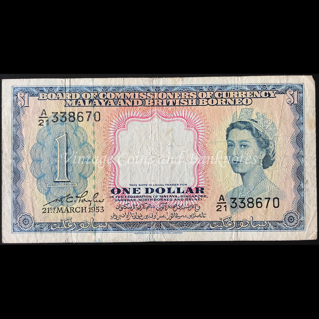 Malaya and British Borneo 1953 $1