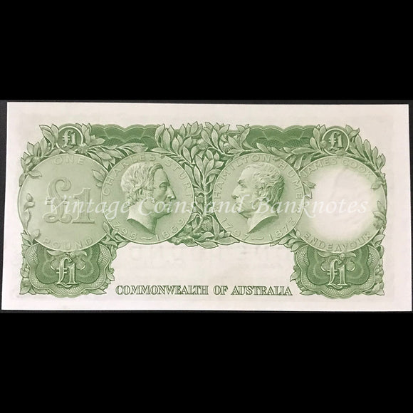1953 Coombs Wilson One Pound QEII Commonwealth Bank UNC
