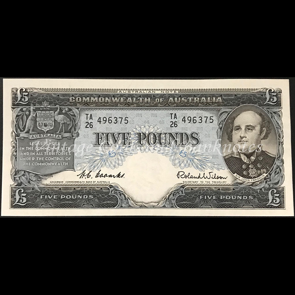 1954 Coombs Wilson Five Pounds Commonwealth Bank UNC