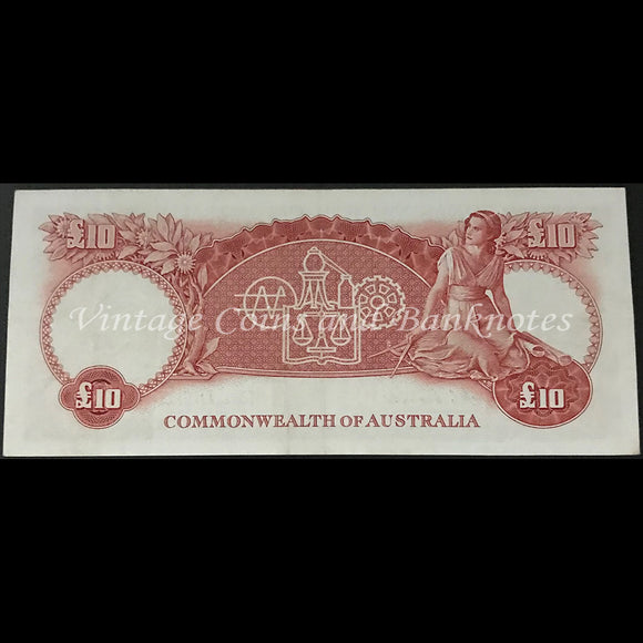 1954 Coombs Wilson Ten Pounds Commonwealth Bank gEF