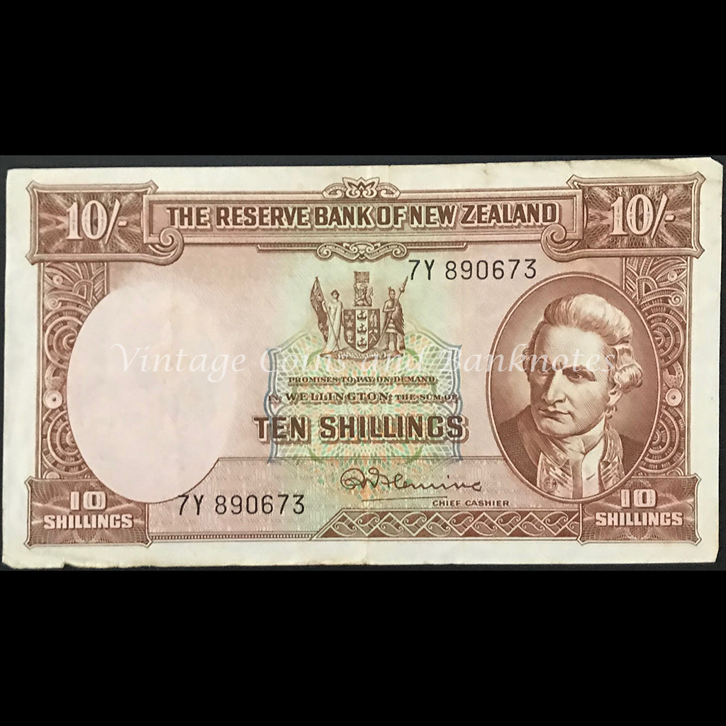 New Zealand Fleming ND (1956-67) Ten Shillings VF