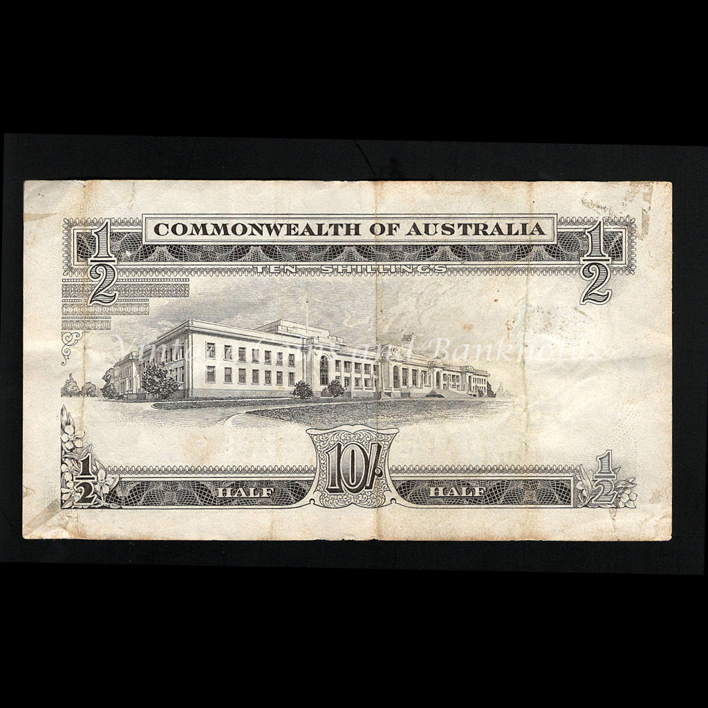 1961 Coombs Wilson Ten Shillings Reserve Bank aVF