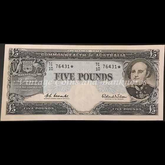 1960 Coombs Wilson Five Pounds Star Note First Prefix TC/10 gEF