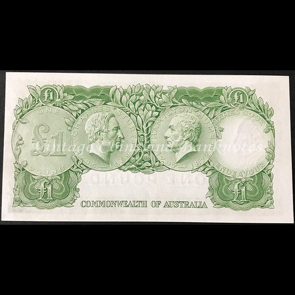 1961 Coombs Wilson One Pound First Prefix HF/65 Reserve Bank UNC