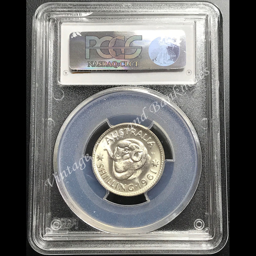 1961 Shilling Elizabeth II PCGS Graded MS65 (GEM)