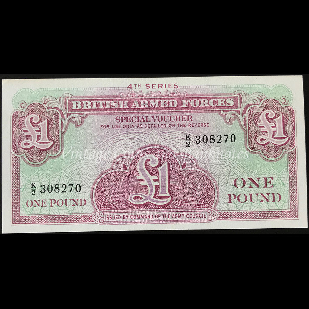Great Britain Armed Forces ND (1962) 1 Pound Special Voucher