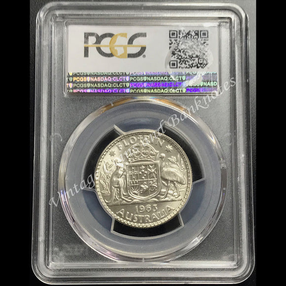1963 Florin Elizabeth II PCGS Graded MS66 (GEM)