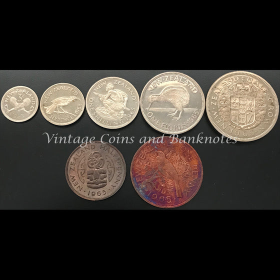 1965 New Zealand Proof Set RARE