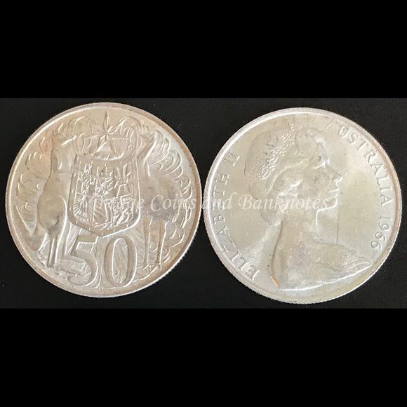 1966 50 Cents Round Coat of Arms Circulated