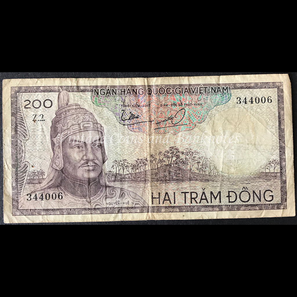 Vietnam, South ND (1966) 200 Dong