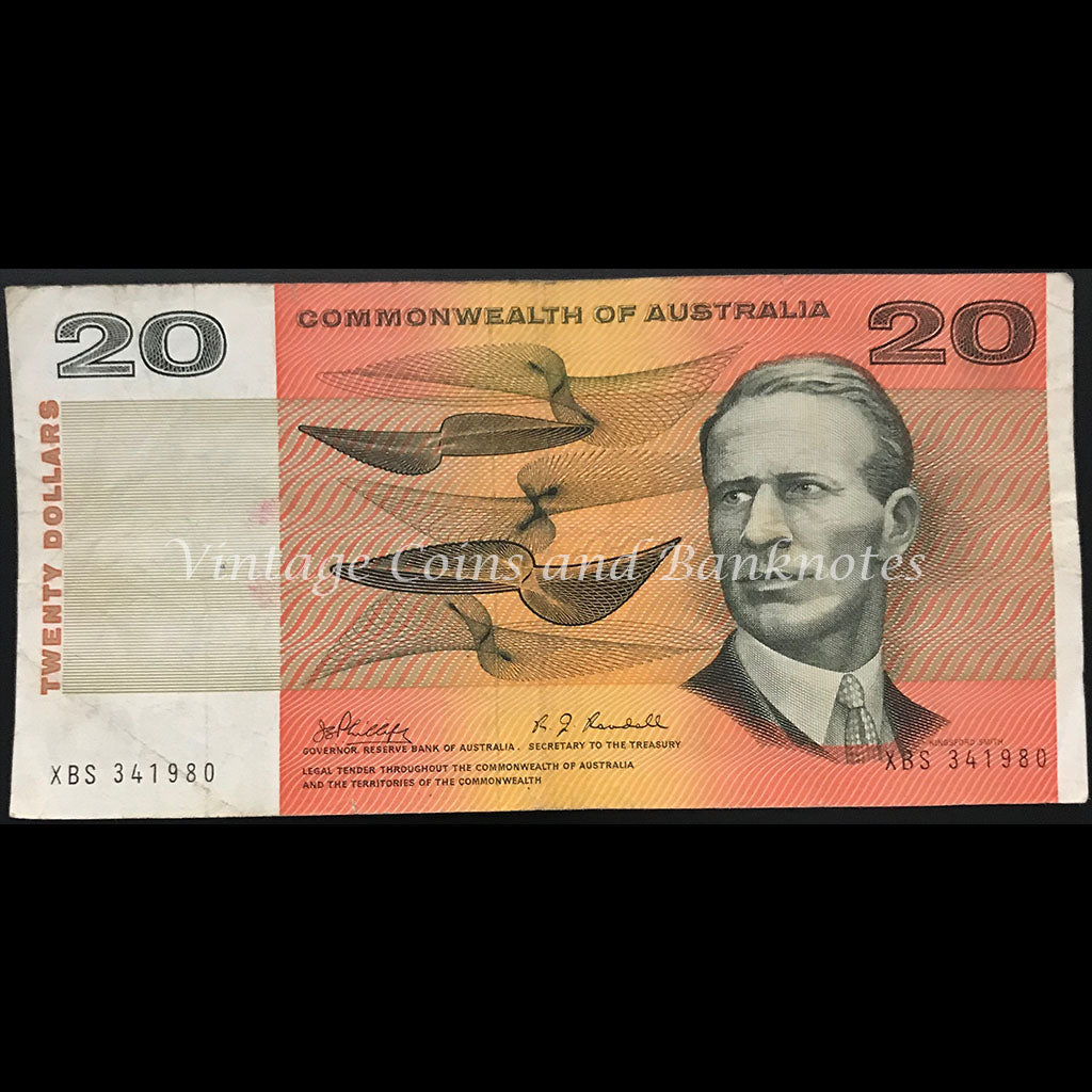 1968 Phillips Randall $20 First Prefix XBS gFINE