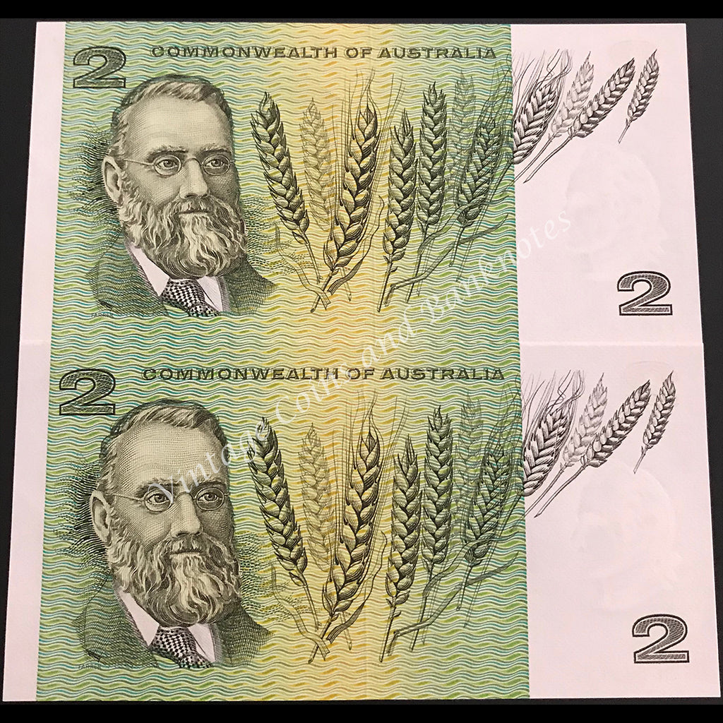 1968 Phillips Randall $2 Consecutive Pair UNC