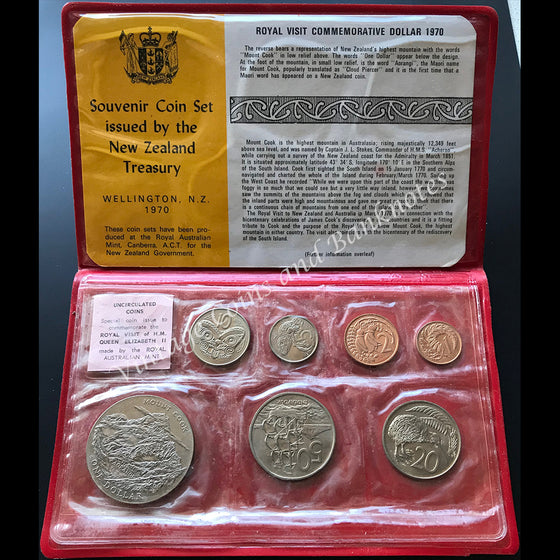1970 New Zealand Mint Coin Set