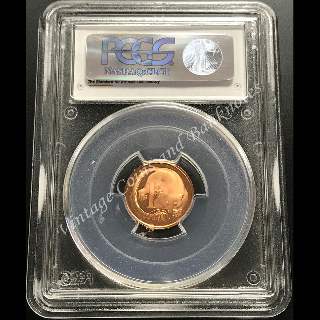1970 1 Cent PCGS Graded and Slabbed PRMS68 (Proof GEM)