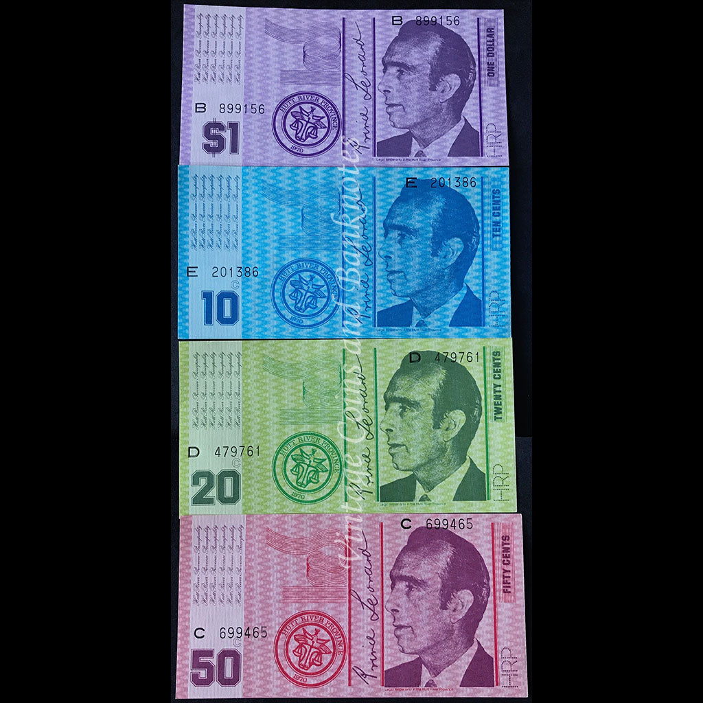 Hutt River Province (Australia) 1970 $1, $10, $20 and $50 Set