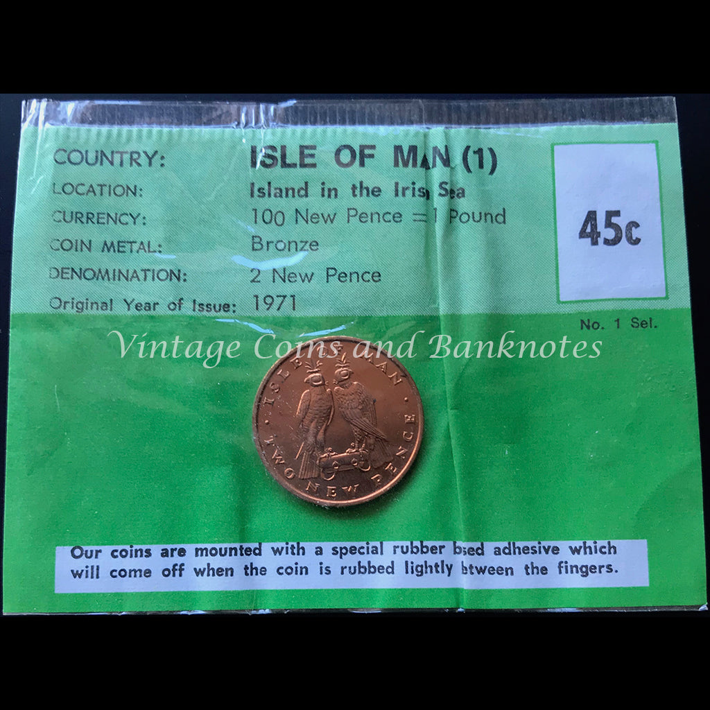1971 Isle of Man 2 New Pence Mint Coin