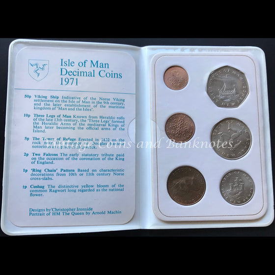 1971 Isle of Man Decimal Coin Set