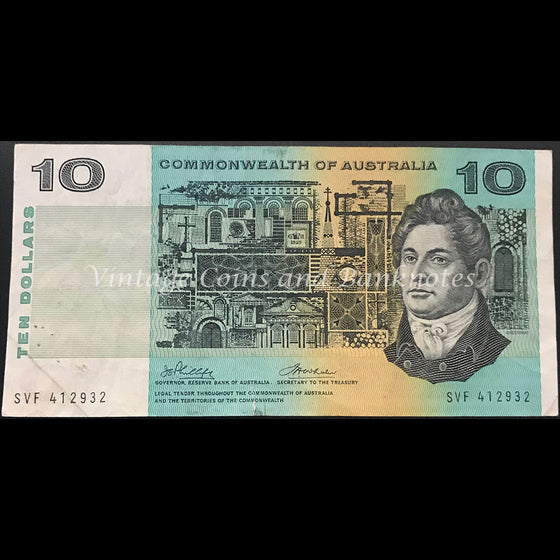 1972 Phillips Wheeler $10 Commonwealth Bank FINE/VF