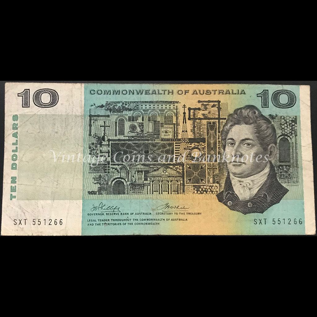 1972 Phillips Wheeler $10 Commonwealth Bank FINE