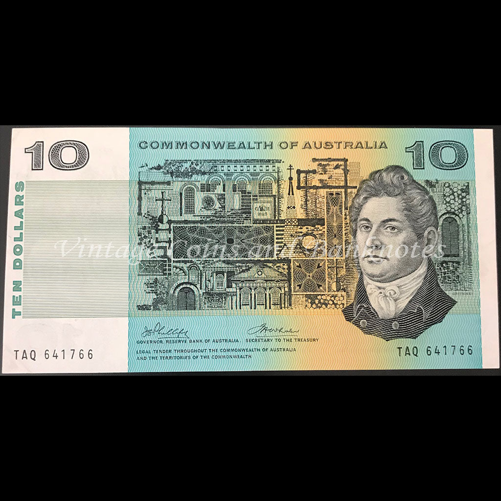 1972 Phillips Wheeler $10 Commonwealth Bank aUNC