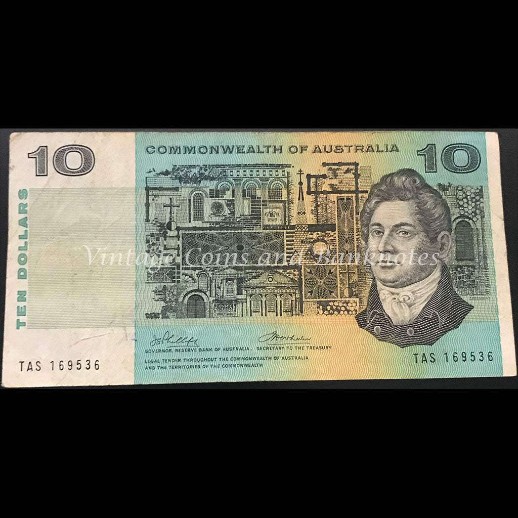 1972 Phillips Wheeler $10 Commonwealth Bank gFINE
