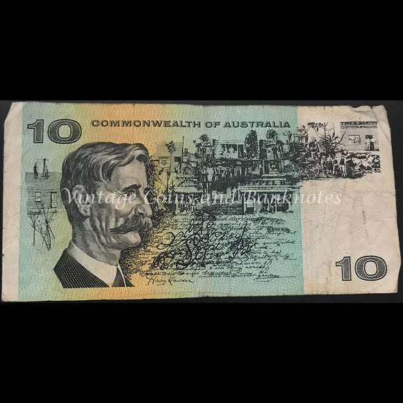 1972 Phillips Wheeler $10 Commonwealth Bank VG/FINE