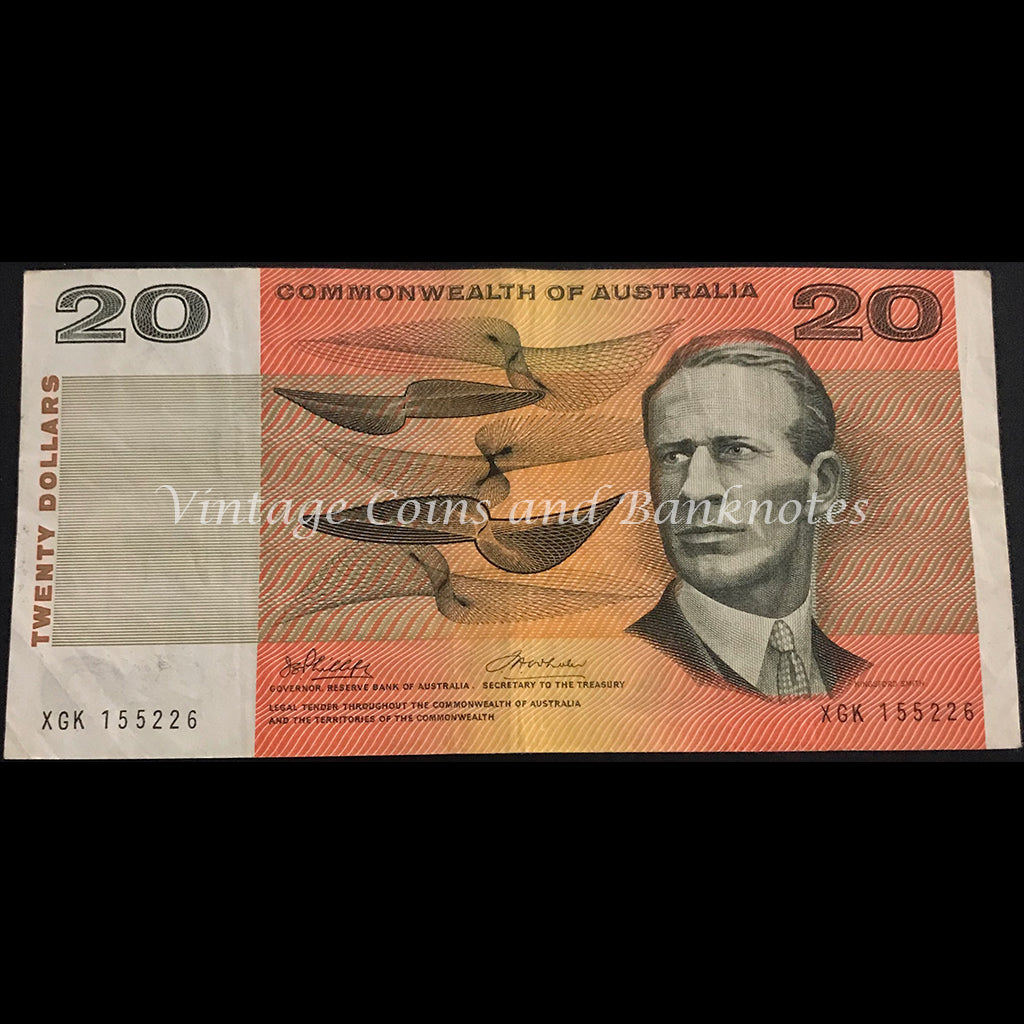 1972 Phillips Wheeler $20 Commonwealth Bank gFINE