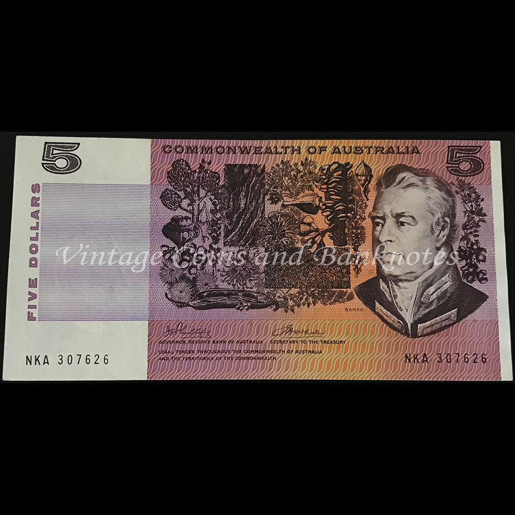 1972 Phillips Wheeler $5 aUNC/UNC