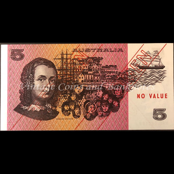 1974 Phillips Wheeler $5 Specimen Type 3 UNC RARE