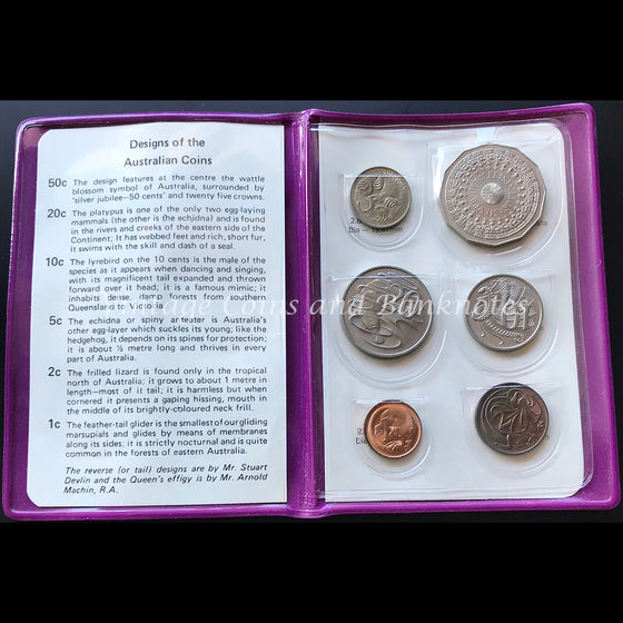 1977 Silver Jubilee Commemorative Mint Coin Set