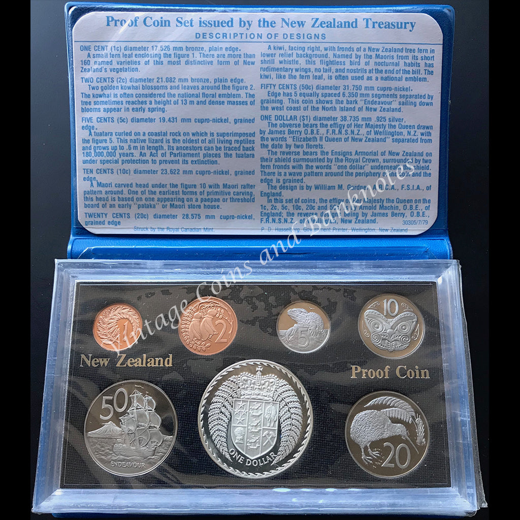 1979 New Zealand Proof Coin Set