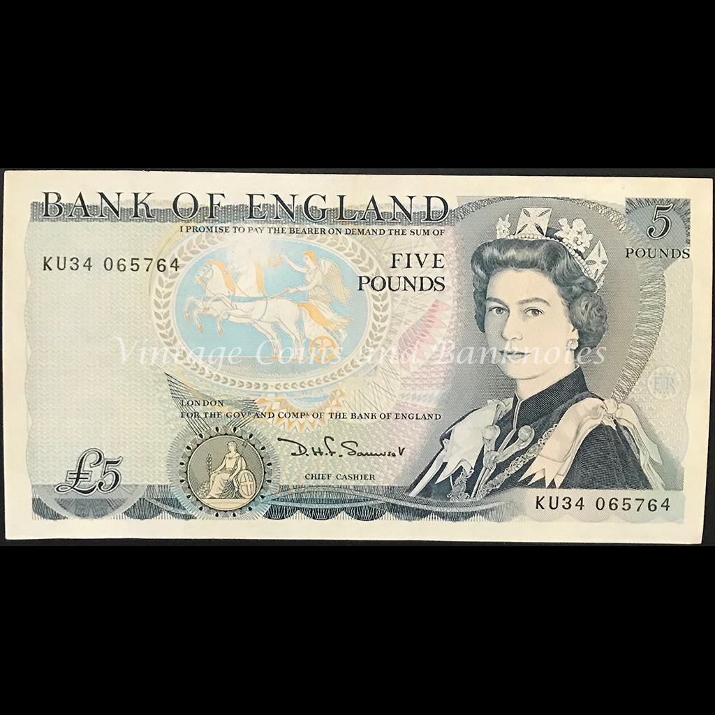 Great Britain ND (1980-87) 5 Pounds UNC