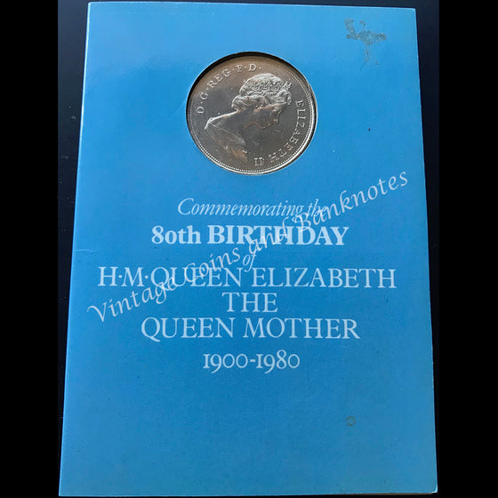 1980 Great Britain 1900-80 Commemorating 80th Birthday of Queen Mother Coin