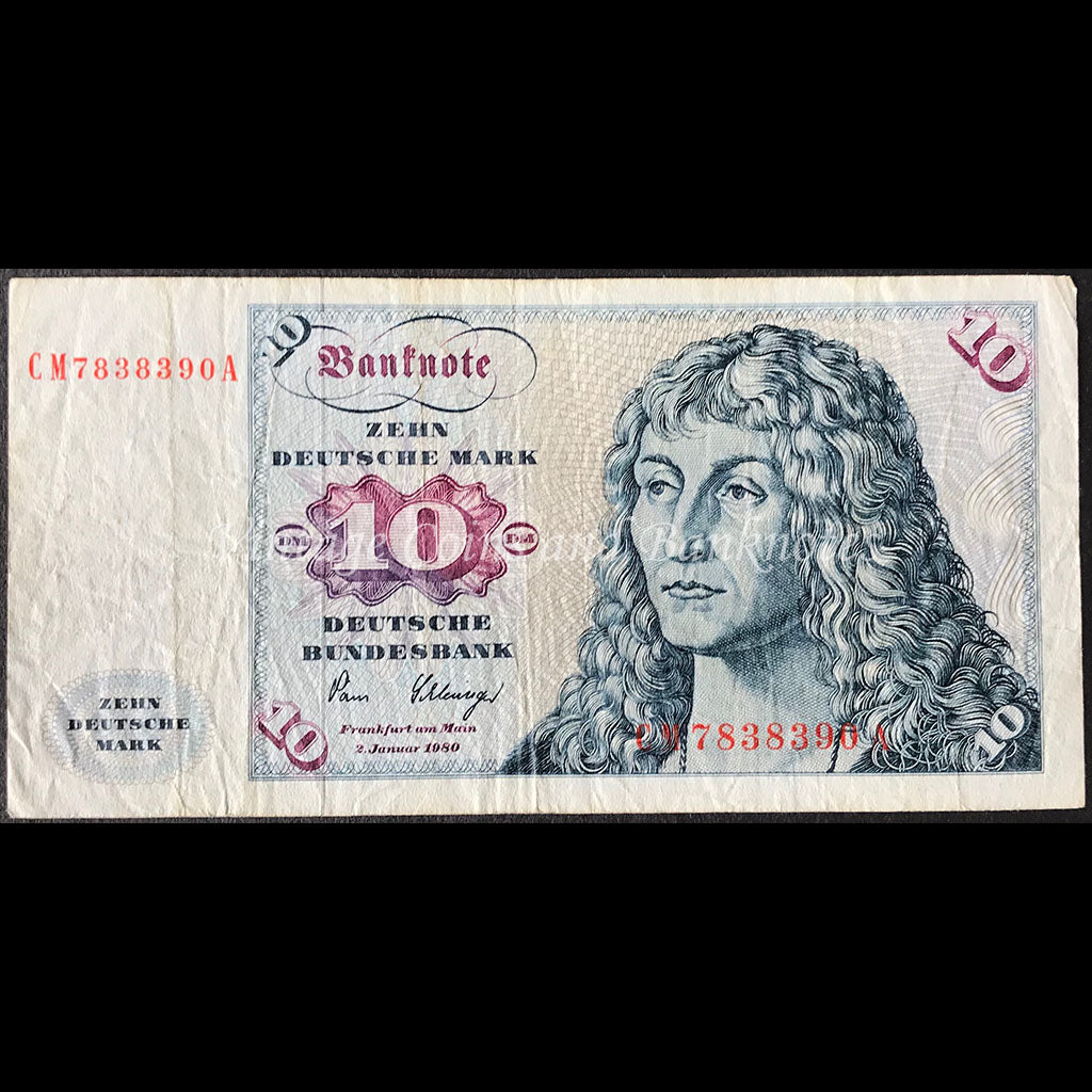 Germany, Federal Republic 1980 10 Deutsche Mark