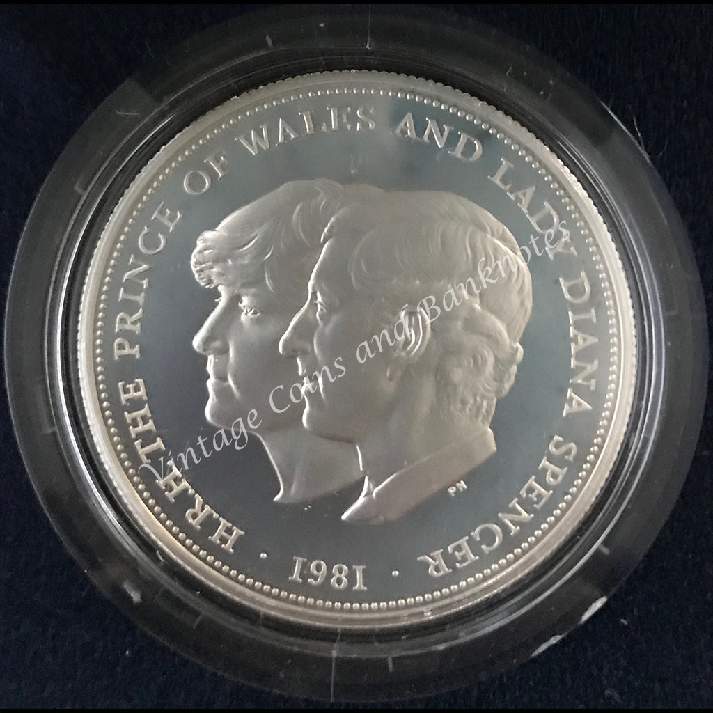 1981 Great Britain Commemorating the Marriage of The Prince of Wales and Lady Diana Spencer Silver Proof Coin