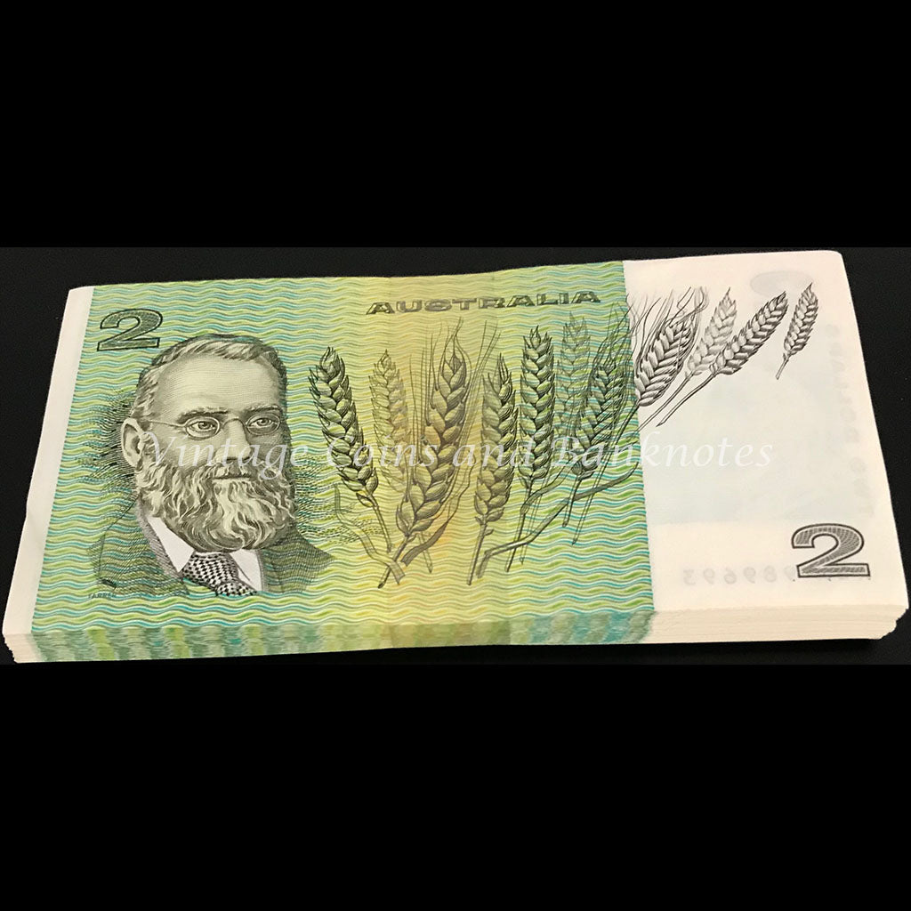 1983 Johnston Stone $2 Bundle of 105 Notes UNC