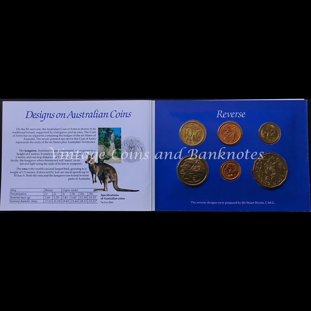 1984 Australian Six Coin Mint Set