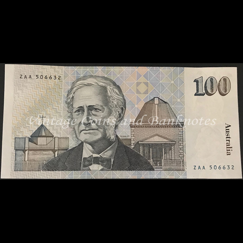 1984 Johnston Stone $100 First Prefix ZAA UNC