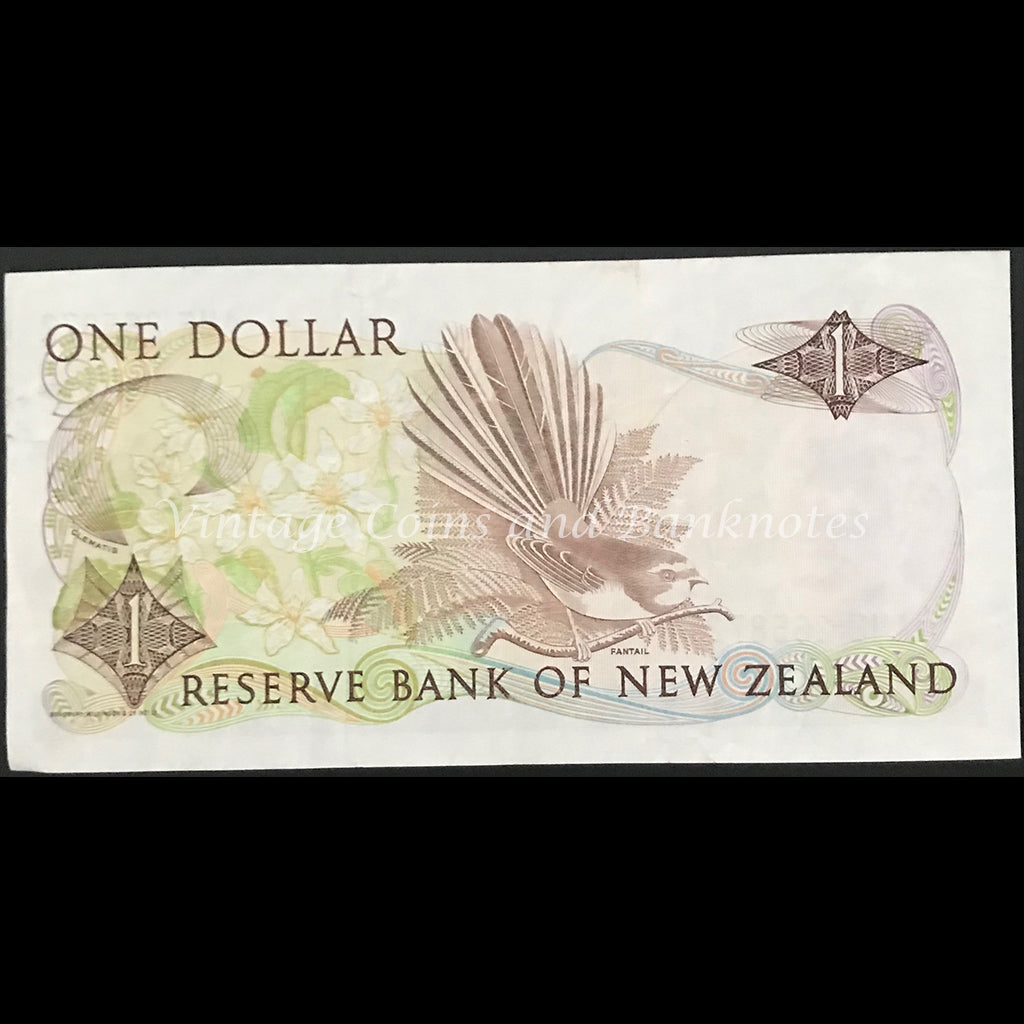 New Zealand Russell ND (1985-89) $1 gVF