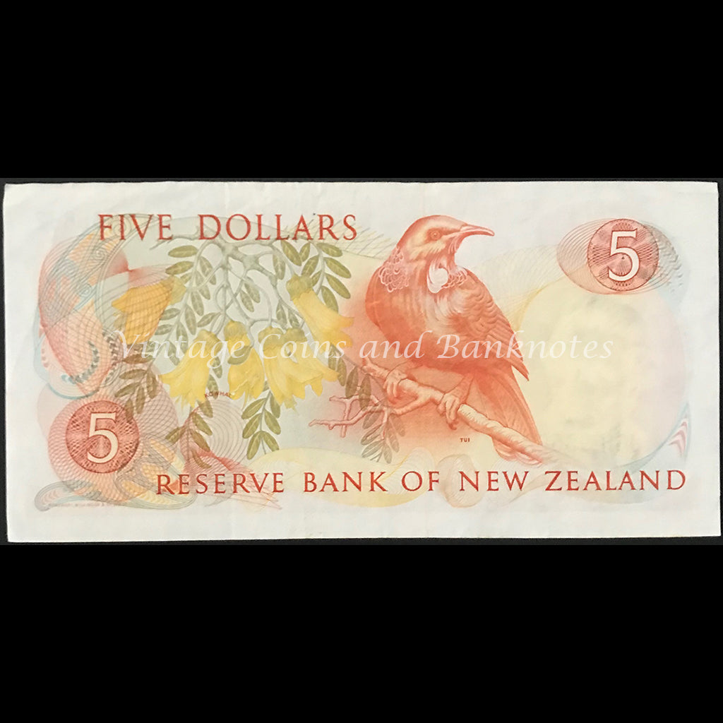New Zealand Russell ND (1985-89) $5 gVF+