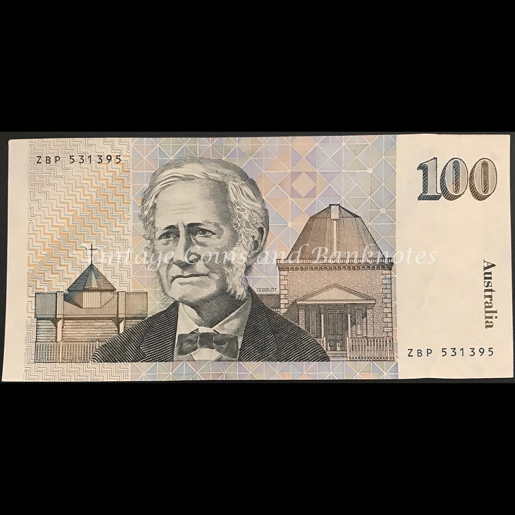 1985 Johnston Fraser $100 aUNC