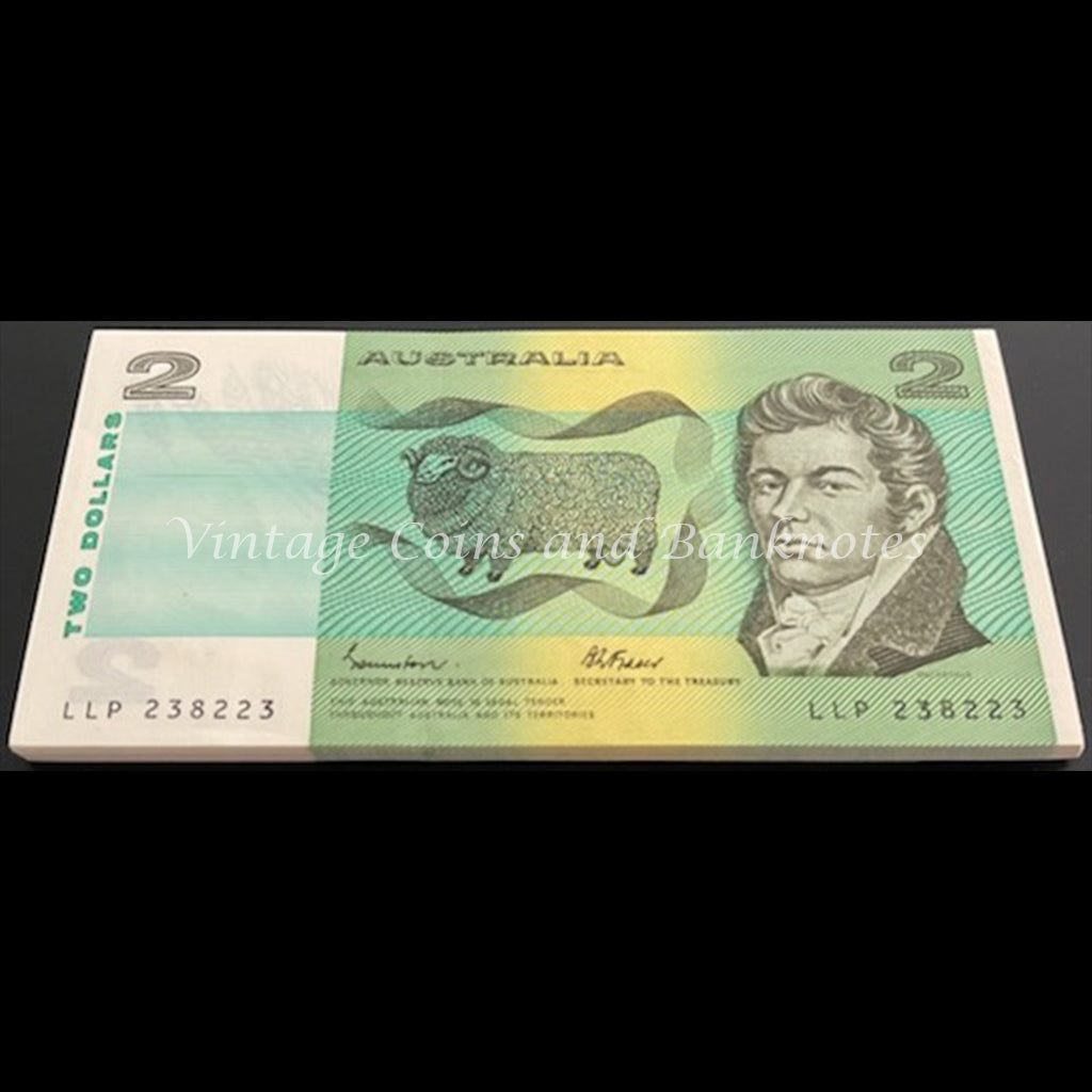 1985 Johnston Fraser $2 Consecutive Run of 50 with Repeater 238238 UNC