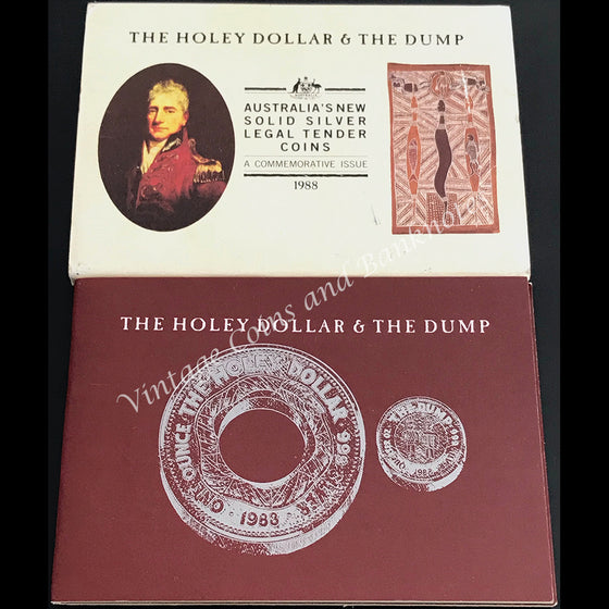 1988 Australia The Holey Dollar & The Dump A Commemorative Issue Mint Coins