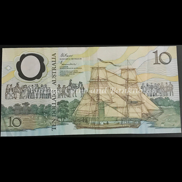 1988 Johnston Fraser $10 Bicentenary AB10 First Prefix (2nd Issue) gVF