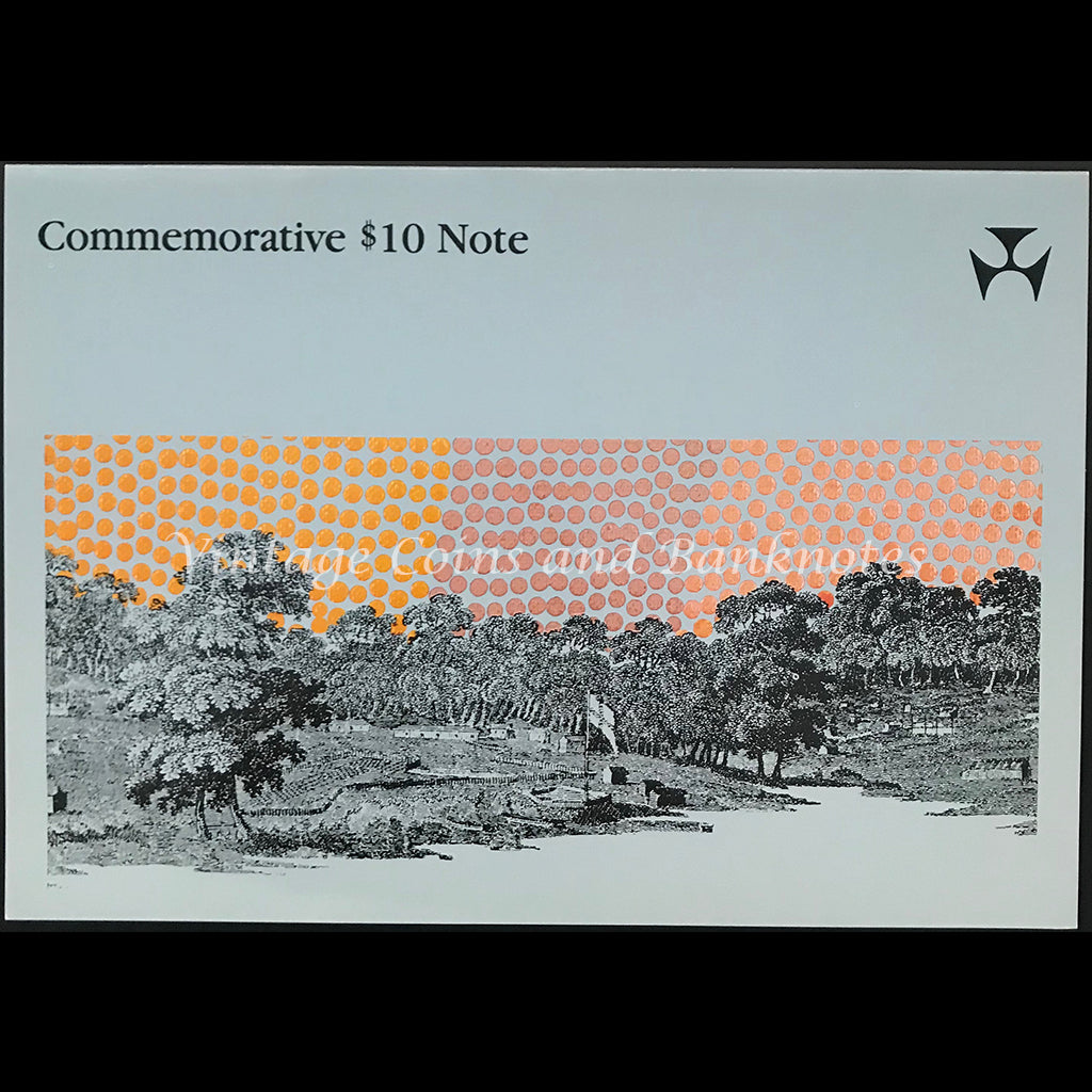 1988 Fraser Johnston $10 Commemorative Folder Consecutive Pair UNC