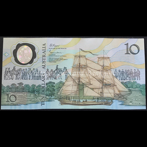 1988 Johnston Fraser $10 Bicentenary 2nd Issue UNC