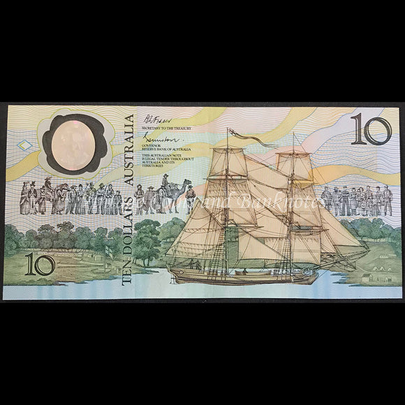 1988 Johnston Fraser $10 Bicentenary 2nd Issue aUNC