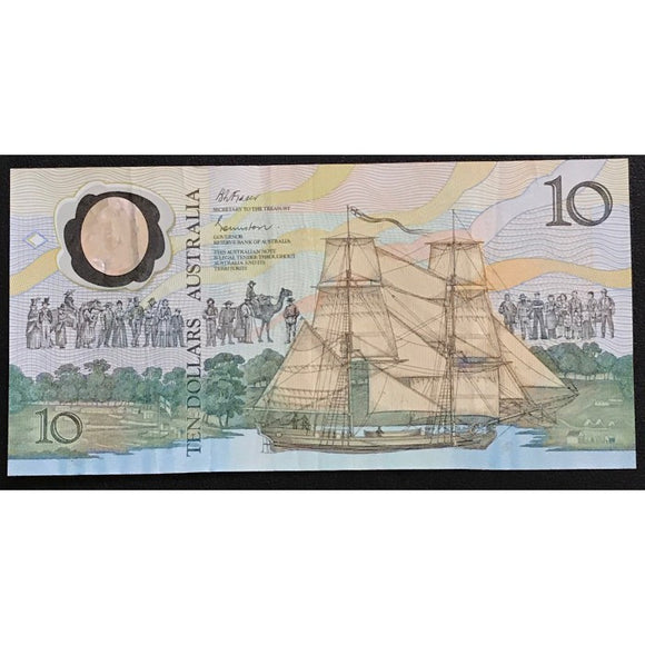 1988 Johnston Fraser Bicentenary $10 AB10 First Prefix