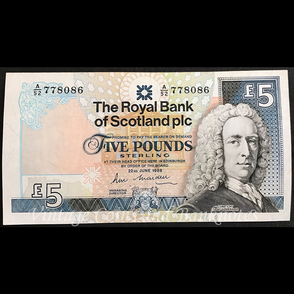Scotland 1988 5 Pounds