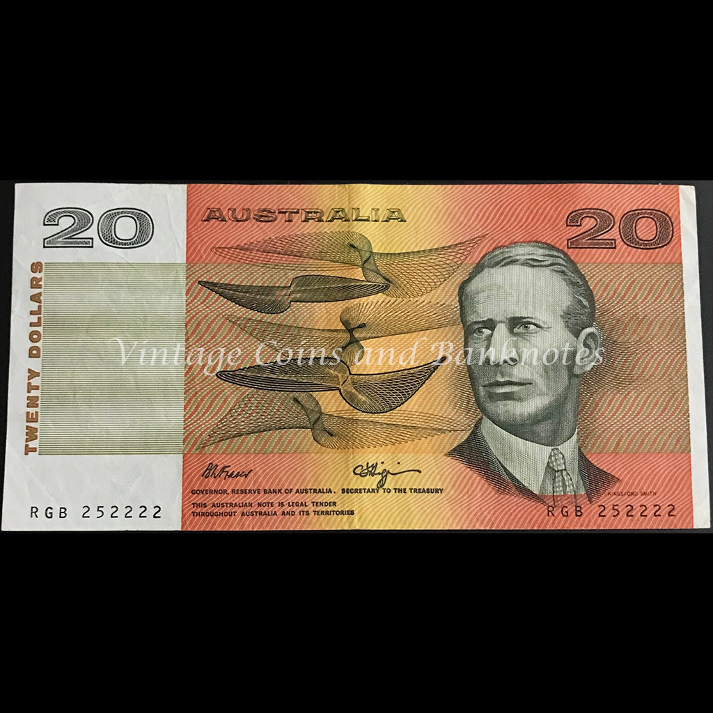 1989 Fraser Higgins $20 Semi-solid Serial VF